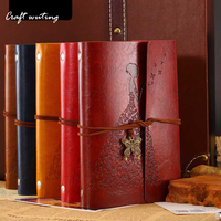 Travelers Notebook Diary Notepad Vintage Literature PU A6 Leather Note Book Stationery Gift Traveler Journal Planners