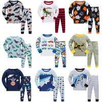 2019 New Cartoon Design Round Neck Boys Cotton Pajamas Set For Child kids long sleeve pyjamas Boys Pyjamas 3~8 Year
