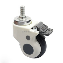 free shipping 3 inch ultra-quiet thread hospital medical carts chair caster swivel caster pulley universal  wheel hardware parts