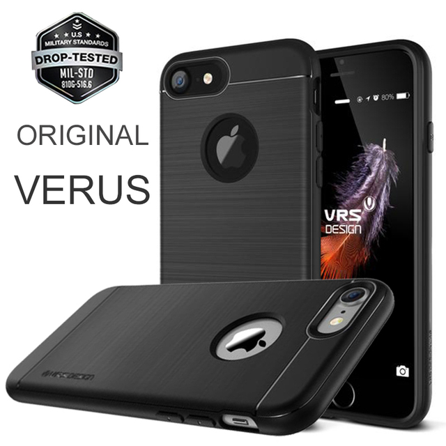 Verus originais para apple iphone 7 7 plus caso simpli fit militar silicone proteção queda vrs abranger os casos para iphone 7/7 plus
