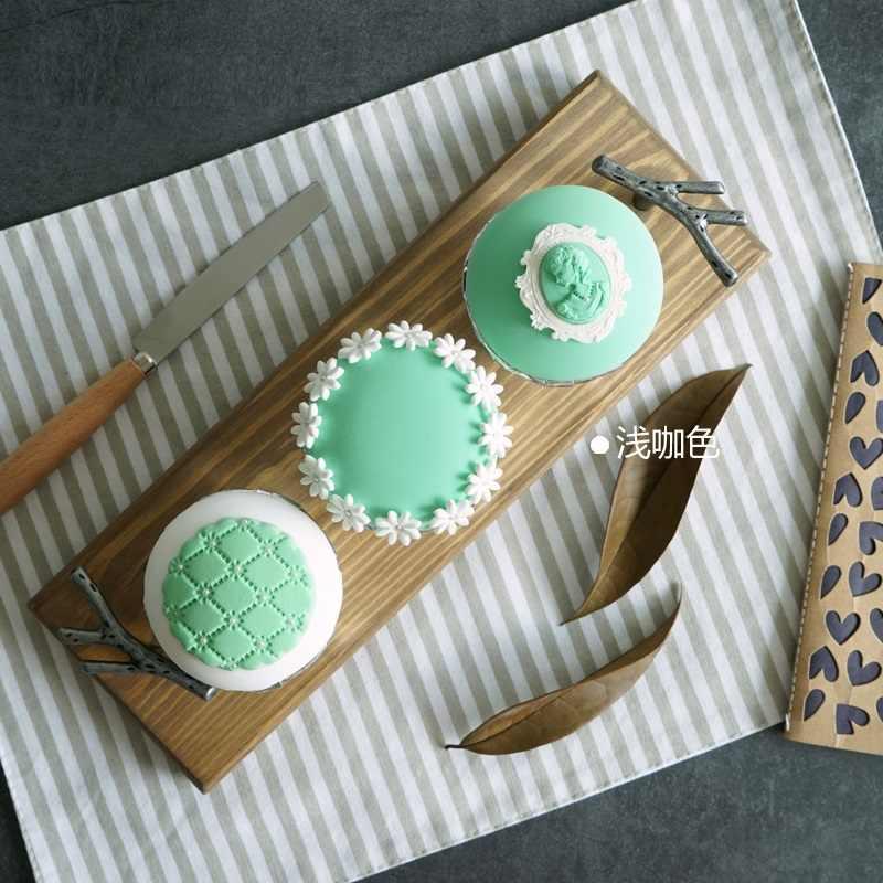 Kayu dengan Pegangan Menyajikan Makanan Dapur/Snack/Buah Nampan Makanan Penutup Kue Meja untuk Meja Pesta Dekoratif Nampan Kosmetik tray MTP013