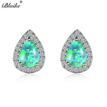Buy 925 opal sterling silver earrings and get free shipping on ... 1c4dae3edee8