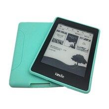 Para Kindle Paperwhite Caso TPU Slicone Suave Ultra Delgado y Ligero de Peso nuevo Caso de la Cubierta para el Amazonas enciende Paperwhite 1 2 3 + Film + Pluma