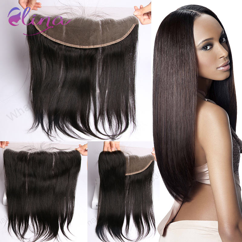 Lace Frontal 13*4 Indian virgin hair straight weave lace frontal Virgin Hair New arrival Full Cuticle Lace Frontal Lace Closure