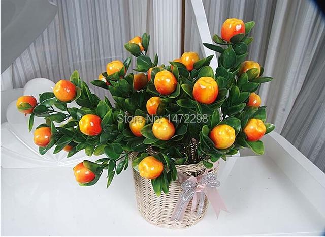 aliexpress : buy hot artificial apple / peach / orange tree