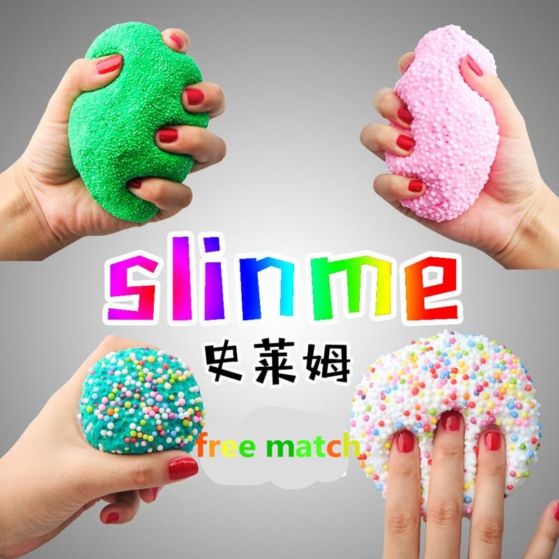 1 BOX Hot Sale DIY Cotton Slime Clay 3D Fluffy Foam Slime ...