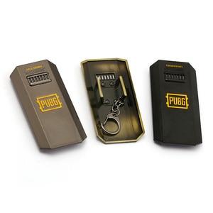 J Store Playerunknown's Battlegrounds PUBG Keychain Riot shield Pendant Metal Key Ring Car Key Chain Gifts Men Jewelry(China)