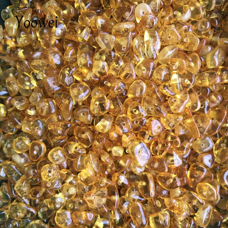 Yoowei Wholesale Natural Amber Loose Beads DIY Supplies for Making Teething Necklace Bracelet Jewelry Amber Loose Beads Gemstone amber teething necklace for baby multicolor 3 sizes natural stone diy beads necklace baby accessories lab tested