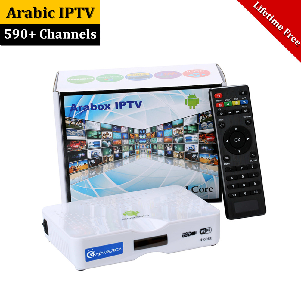 Lifetime Arabic IPTV Box No Monthly Fee 590 Live TV Channels with VOD Movies Android TV