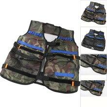 Тактический жилет для детей 6 лет Детская тонкая нейлоновая куртка тактический жилет для Nerf N-Strike Элитной серии, Прямая поставка
