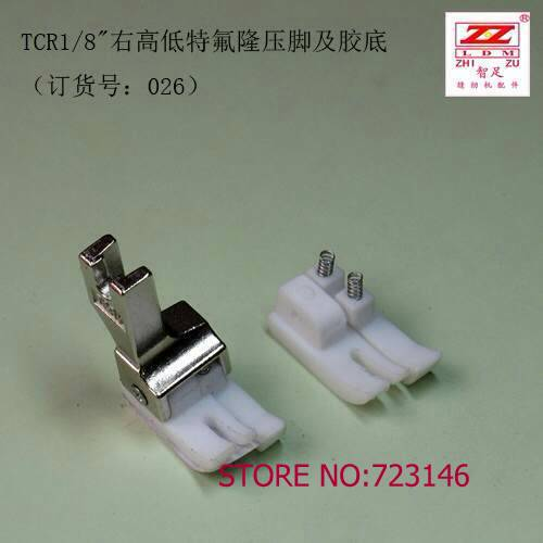 TCR CR 1/8 5pcs Telfon foot feet Industrial Sewing Machine for juki Brother pegasus pfaff siruba singer typical durkopp adler