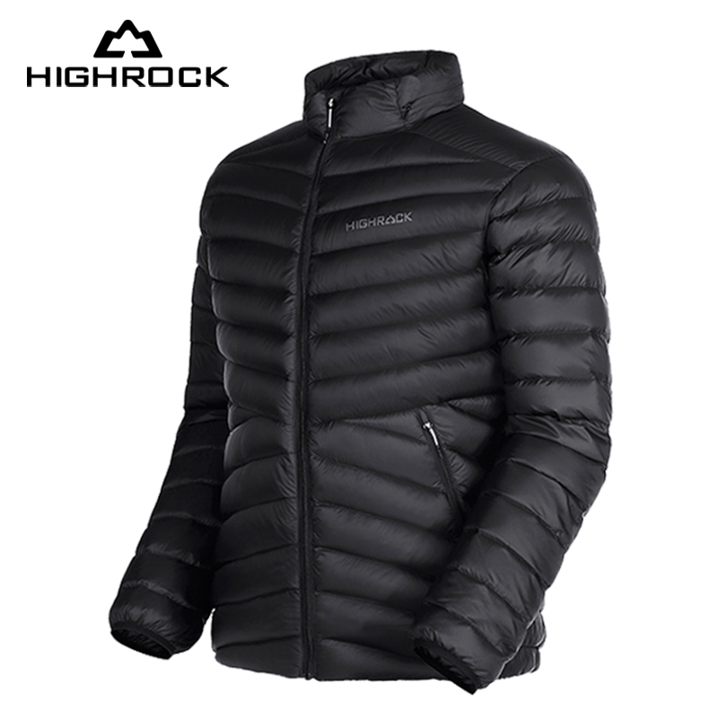 Highrock 700FP goose down jackets men and women compact outdoor camping travel waterproof Down Parkas windbreaker