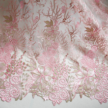 European and American stylefashion embroidery lace fabric high-end wedding dress cloth DIY