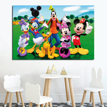 Mickey Mouse Clubhouse Wallpaper Wall Art Canvas Poster And Print Painting Decorative Picture Nursery Bedroom Home Decor
