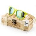 Óculos de sol das mulheres 2015 óculos de sol da marca óculos de sol de madeira de bambu Caso De Madeira Praia óculos de Sol para a Condução gafas de sol BS03