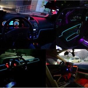 Image 2 - Accesorios de iluminación Interior del coche de la luz ambiental del estilo del coche de JURUS 10 piezas para la tira de la lámpara del coche 12 V de la cuerda del inversor línea de tubo de lámpara