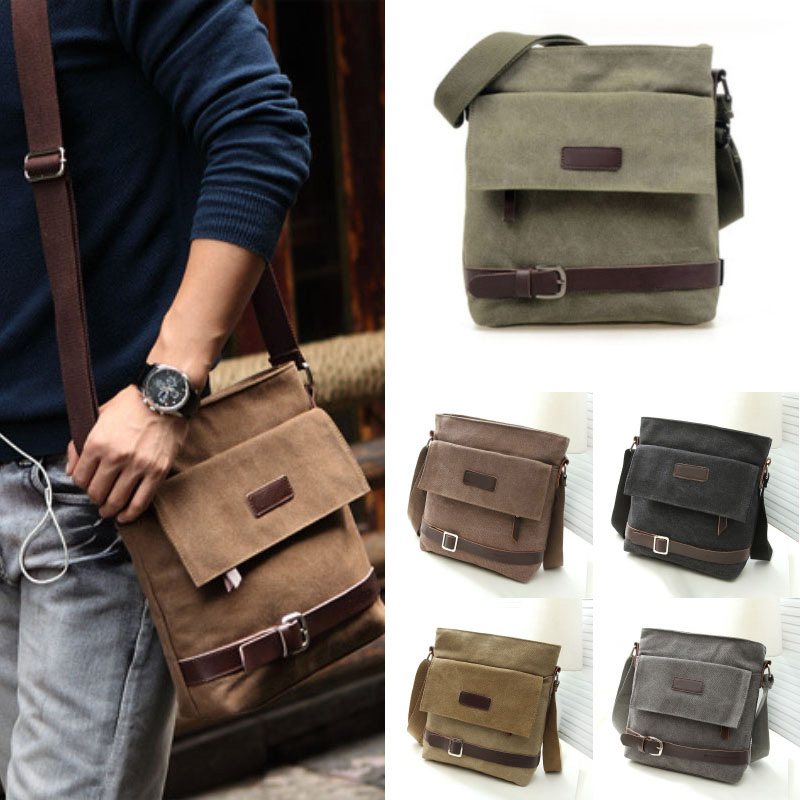 Hot Fashion Canvas Men Zipper Shoulder Bag Purse Messenger Pack Satchel  Handbag