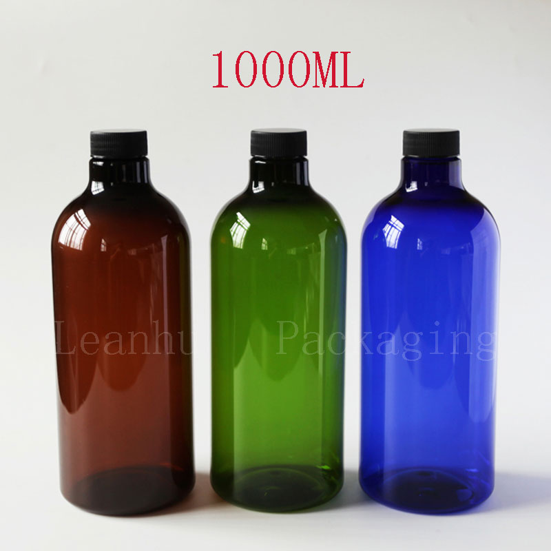 Plastic Empty Cosmetic Containers,1000ML PET Packing Bottle With Screw Cap, Lotion Cosmetic Bottles,Shampoo,Shower Gel Container empty cosmetic containers bottle 10gram