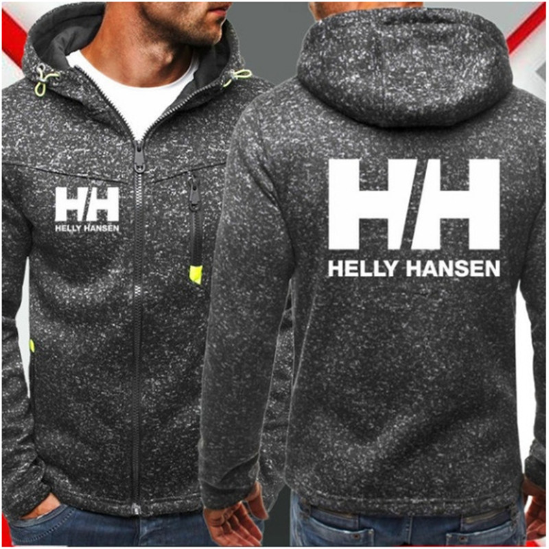 2019 New Fashion Hoody Jacket Helly Hansen Printed Men Hoodies Sweatshirts Casual Hooded Pullover Coat Plus Fleece Cardigan(China)