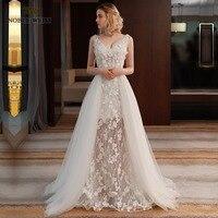 Sexy V Neck Bohemian Lace Vintage Boho Beach Wedding Dress 2018 Romantic Wedding Embroidery Cut Out