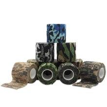 Camping Camouflage Camouflage Selfกาวผ้าพันแผลทางการแพทย์ผ้าพันแผลเทปFirst Aid Kitสำหรับกีฬาข้อเท้าFingerกล้ามเนื้อข้อเท้า