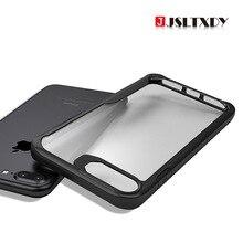 Для iPhone X XR XS MAX 6s 7 8 Plus задняя ультра-тонкий прозрачный жесткий + мягкая TPU силиконовые противоударные Чехлы Coque