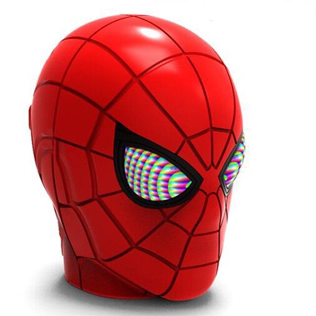 Spider Man Bluetooth Speaker Wireless Bluetooth V5.0 Subwoofer With FM Radio TF Card For Phone PC Speaker High Definition Sound