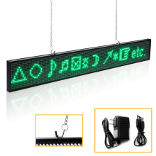 20 inches P5 SMD Led Sign Module Programmable Scrolling Message LED Display Board with Metal Chain,Green