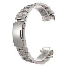 YCYS! 19mm Pulsera de Acero Inoxidable Venda de Reloj de la Correa Botón de Empuje Lateral Hebilla de Oro y Plata