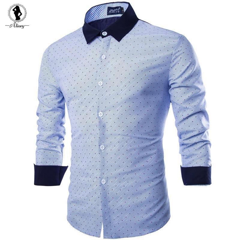 2017 New arrival men s shirt hot blue pink cotton men shirt plus size XXL