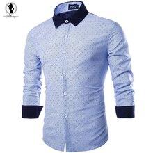2017 Новое прибытие мужская рубашка горячие синий розовый хлопок мужчины рубашка плюс размер XXL полосатый с длинными рукавами все матч camisas hombre vestir