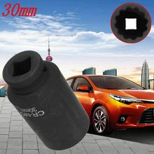 durable Black Car Front Wheel Drive Shaft Nut Socket For Lexus 30mm 1/2 inch Drive 12 Point Spindle Shaft Nut Socket for Toyota m10 inch x2 15 inch shaft hole diameter 12mm motorcycle plating wind mill type modified front wheel rims for fuxi calves rsz