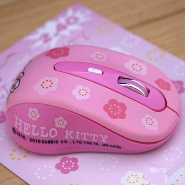 e2b23c37d0a Wireless Mause Hello Kitty Computer Mouse 2.4GHz 1600DPI Wireless Optical  PC Gaming Mouse Mice Pink For Girls
