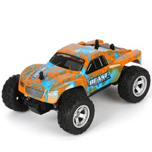 Rc car K24-2 rc off-road vehicle 1:24 high-speed drift big foot off-road vehicle 4WD climbing racing short card racing flytec 9118 rc cars 1 18 alloy 2 4g 4wd double magnetors high speed climbing rock car racing vehicle off road vehicle rc crawler