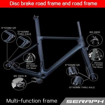 0e5b6fe9056 2018 carbon frame flat mount disc carbon road frames carbon frameset BB86  frame Thru axle front and rear , disc brake frame