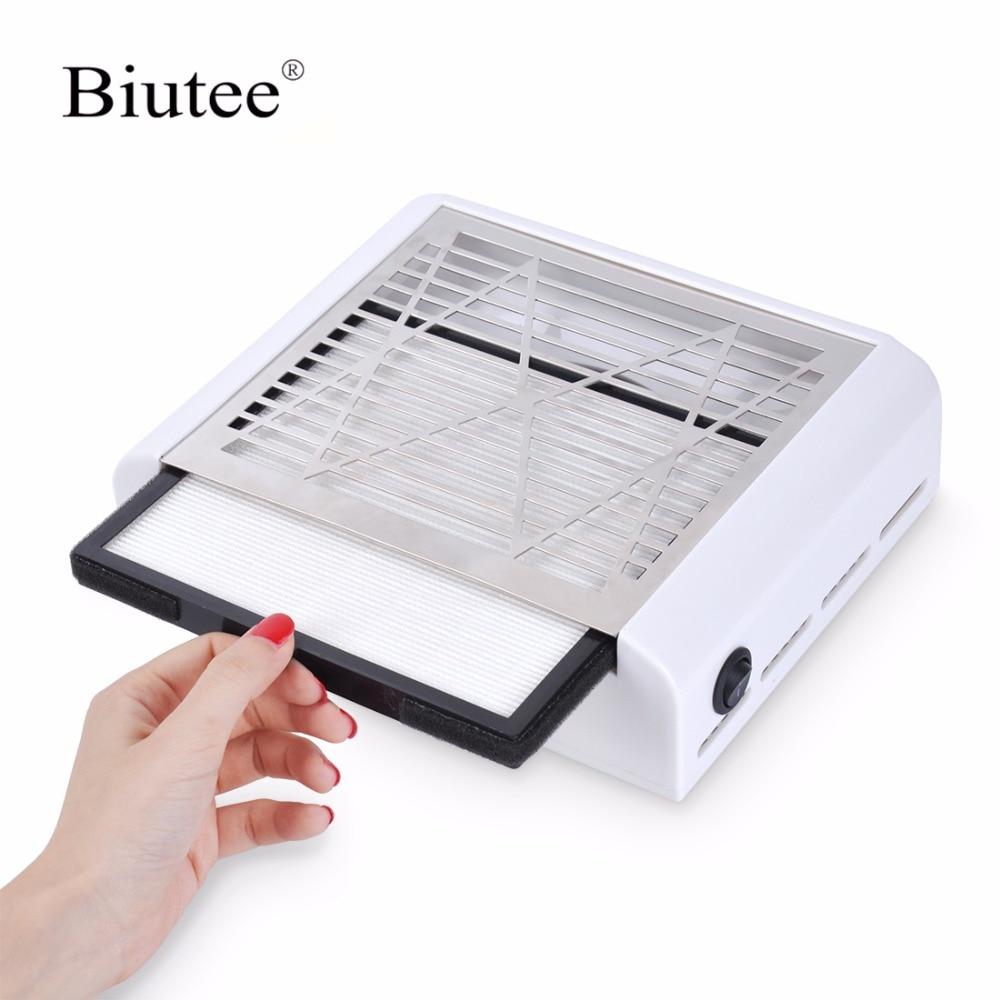 Biutee 40 Вт новый мощный пылесборник для ногтей Вентилятор для ногтей салон всасывания пылесборник машина пылесос вентилятор