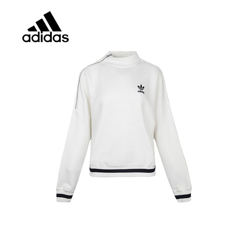 Original New Arrival Official Adidas Women's Breathable Pullover High Collar Plus Velvet Leisure Zipper Sportswear BS4276 купить в Москве 2019