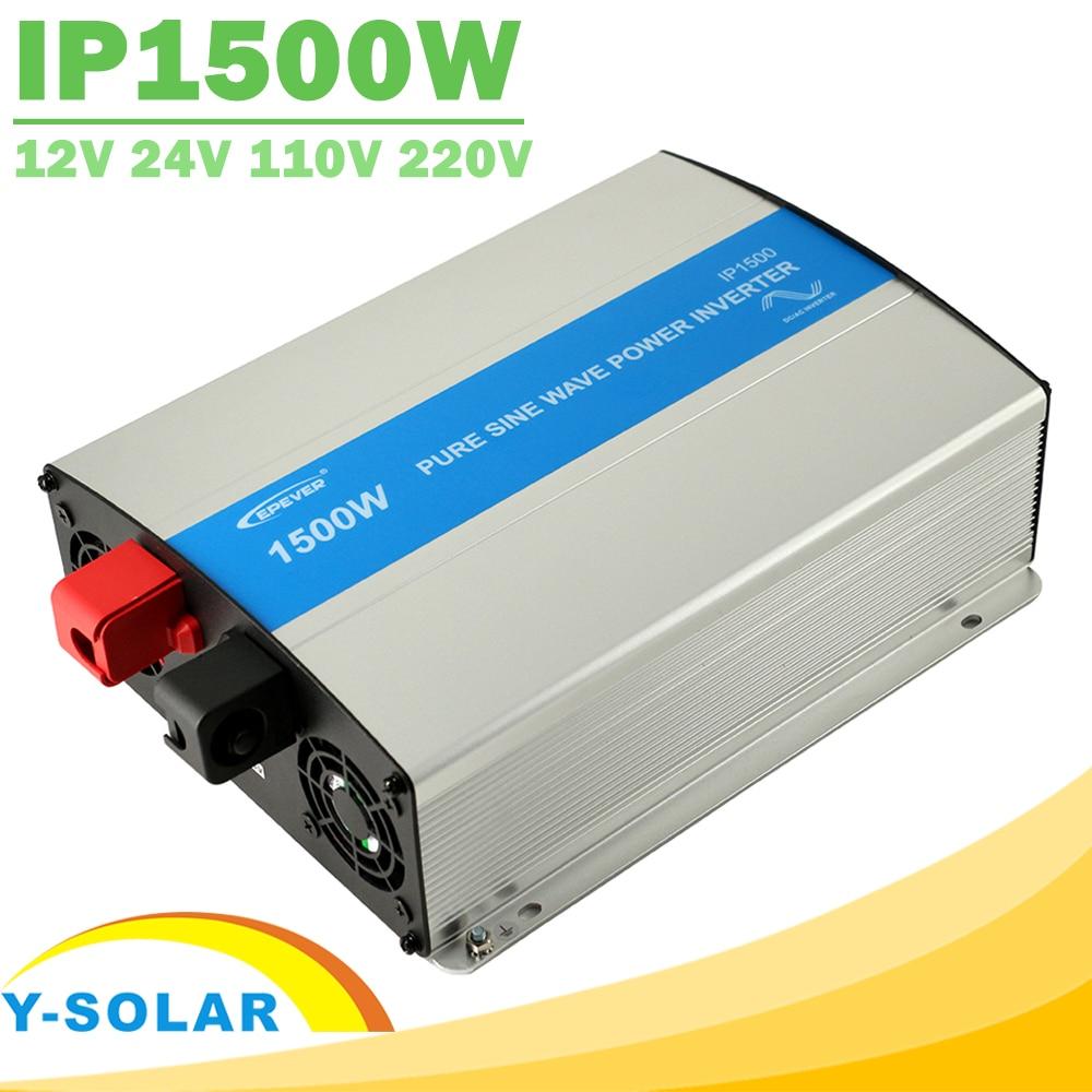 EPever IPower 1500W Solar Inverter 12V 24V DC Input 110V 120V 220V 230V AC Ouput Off Grid Tie Inverter Pure Sine Wave 50HZ 60HZ
