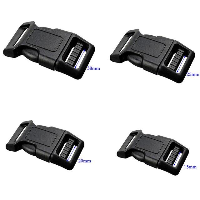 e691a751a 10 piezas 20mm 25mm de plástico cierres contorno lado hebillas de  liberación para Paracord pulsera mochilas