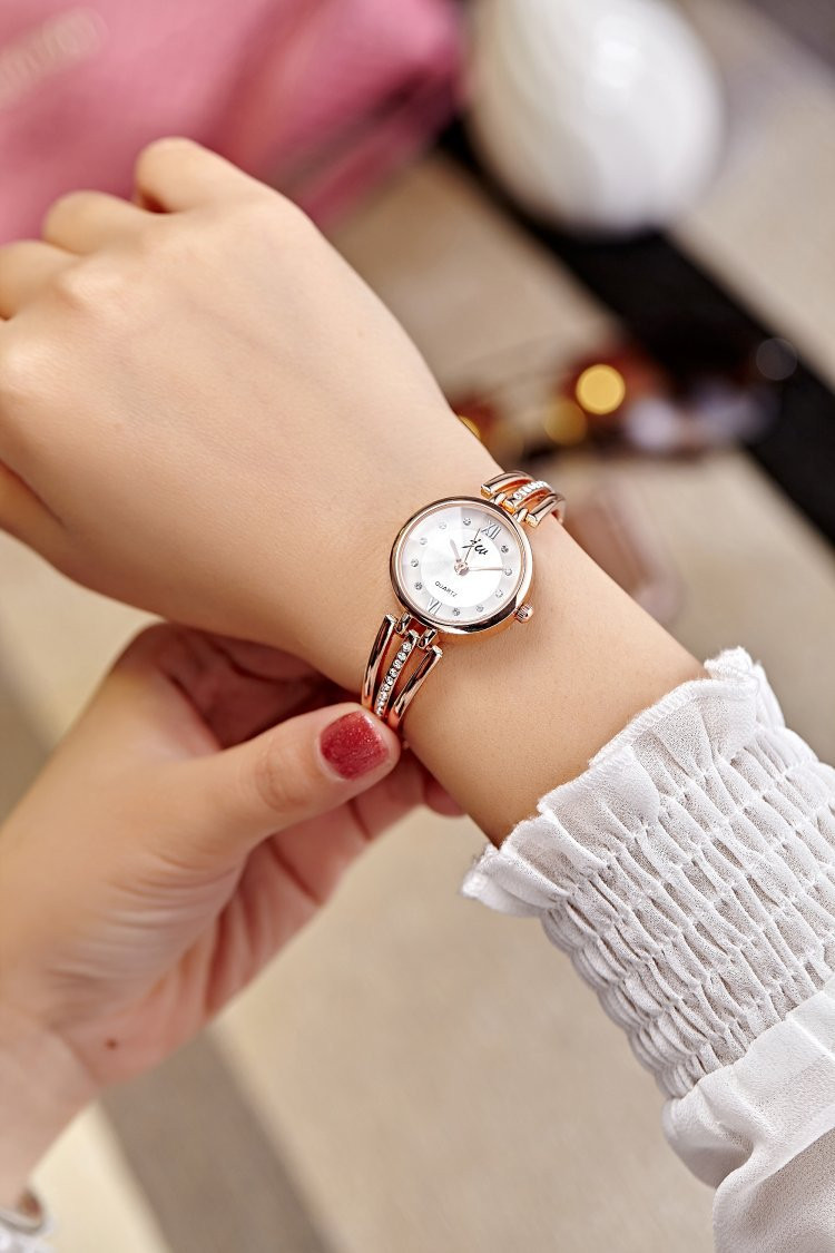 New Fashion Rhinestone Watches Women Luxury Brand Stainless Steel Bracelet watches Ladies Quartz Dress Watches reloj mujer AC070 6