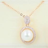 N135103 новые белые имитация жемчуга кристалл ожерелье цинковый сплав розового цвет золотистый серебряный цвет с Австрия Кристалл ювелирные и...