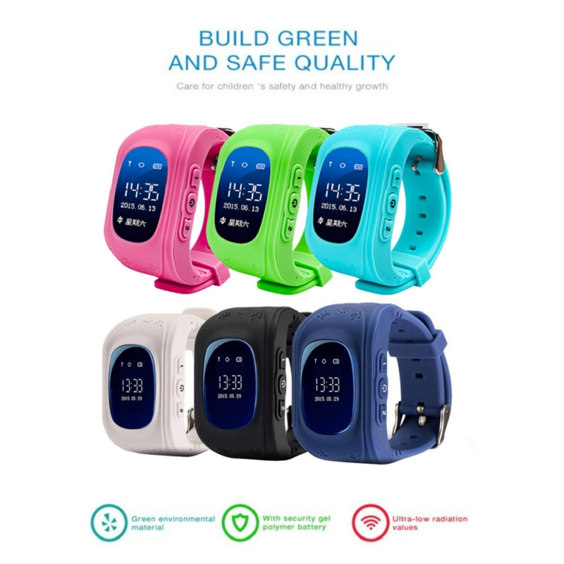 BALIGHT Anti Lost Q50 OLED Child GPS Tracker SOS Smart Monitoring Positioning Phone Kids GPS Baby Watch Compatible IOS & Android