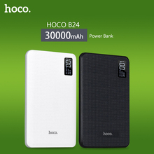 HOCO Energienbank 30000 mAh 3USB Tragbare Externe Ladegerät Li-Polymer Unterstützung LCD Display poverbank Für iphone Alle Mobile