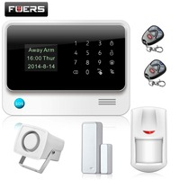 Fuers Russian/English WiFi GSM Home Alarm System Security Phone Apps Control Russian Alarm with IP Camera WIFI GSM Alarm System