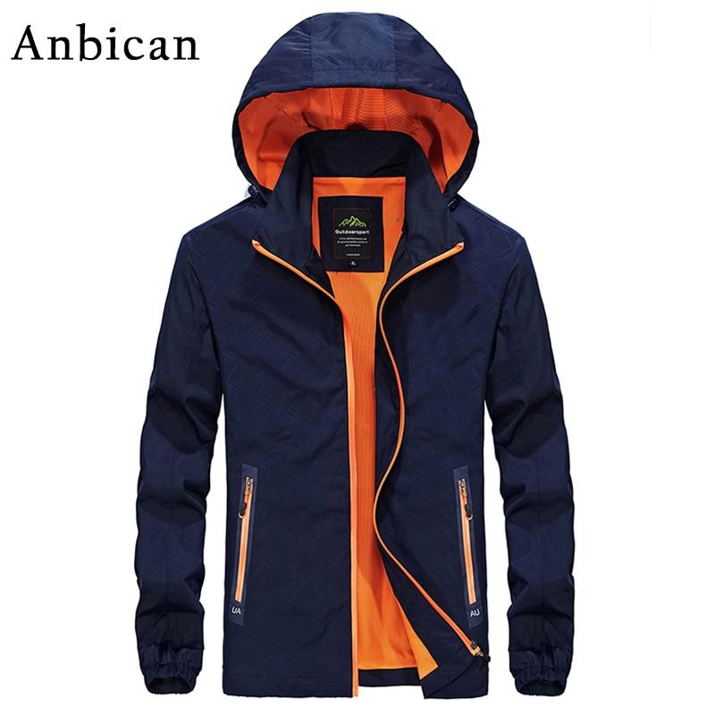 Anbican Fashion Mens Spring Jacket 2017 Brand New Hooded Windbreaker Coat Men Softshell Casual Jackets Plus Size L-4XL