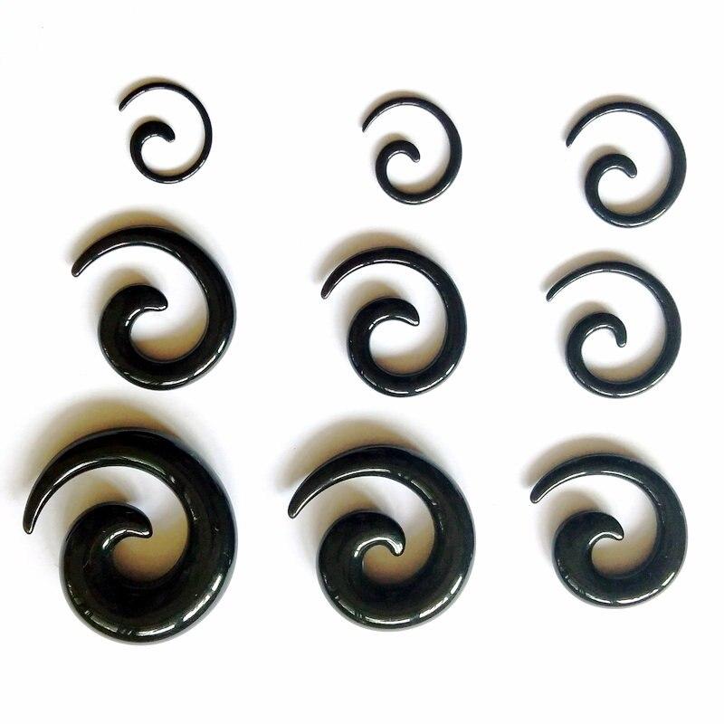 oreille civière Tous les Acrylique UV Noir conique