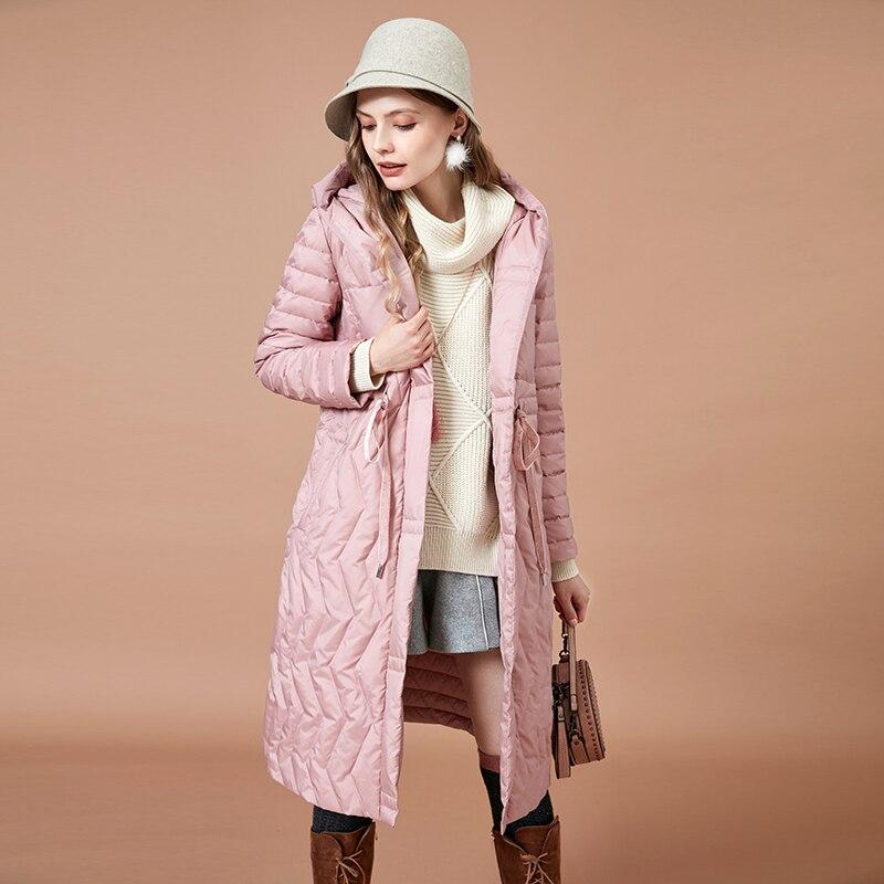 Manteau Manteaux Femmes De Bas Rose Qualité Long 2018 Chaud Le Vers D'hiver Haute Artka Parkas Veste Capuchon Blanc Vêtements Yk10088d 90 Mode À EHzWwq