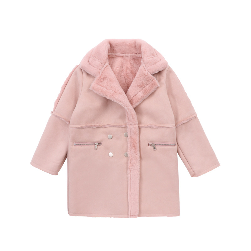 girls winter jackets and coats children outwear solid long section turn down collar girl coat thicken warm lambswool kids jacket girl winter jacket 2017 new long section kids winter coats thicken warm cotton wadded jacket solid hooded children outwear 6 13t