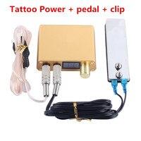 Besta High Quality Tattoo Kit Gold Tattoo Power Tattoo Foot Switch Clip Cord Permanent Tattoo Machine Supply