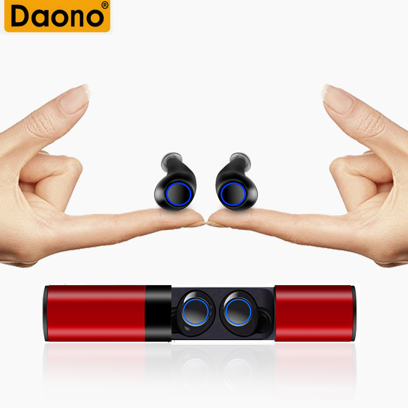 DAONO Newest <font><b>TWS</b></font> S2 Binaural Mini Portable Twins Bluetooth Stereo wireless earphones built-in Mic earbuds with 850mAh Battery image